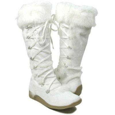 White Mervyn Furry Snow Boots | Planetary Skin Institute